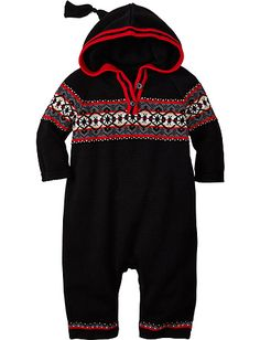 Long Winter's Night Hoodie Romper from Hanna Andersson