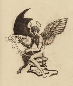 Song Angel Drawing - Broken Song by Amiri BennettAngel Drawing - Broken Song by Amiri Bennett Tattoo Sketches, Tattoo Drawings, Art Sketches, Art Drawings, Kunst Tattoos, Body Art Tattoos, Sleeve Tattoos, Dark Fantasy Art, Dark Art