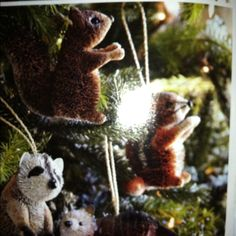 squirrel/woodland creature christmas tree
