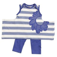KidCuteTure Baby Girls Violet Stripe Karrie Tunic Leggings Outfit Set 6M, Girl's, Size: 6 Months, Purple