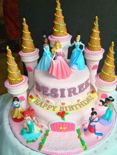 fiesta hermosa las tortas ms bellas de las princesas de disney