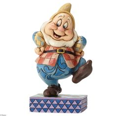 4049627 Happy Hop (Happy)- Jim Shore's whimsical new seven Dwarfs collection features a lighthearted look at the lovable characters from Disney's Snow White #enesco #jimshore #disney