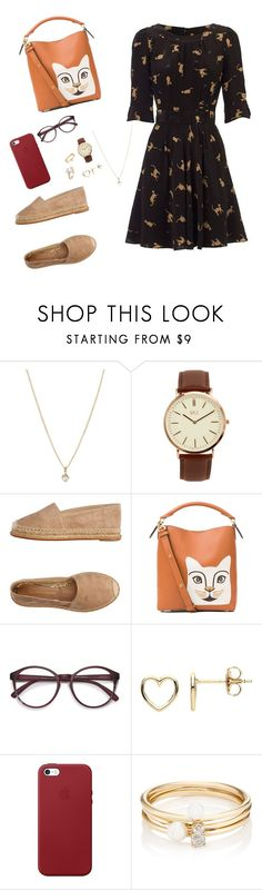 """😀"" by samara-silva-kochem ❤ liked on Polyvore featuring Laura Lee Jewellery, BKE, Paloma Barceló, Loewe, EyeBuyDirect.com, Estella Bartlett, Apple, Loren Stewart and Saks Fifth Avenue"