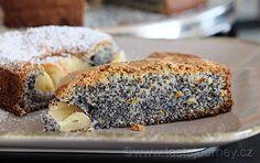 Nevíte,+co+s+jablky?+Dejte+je+do+makového+koláče,+krásně+ho+zvláční! Banana Bread, Paleo, Desserts, Lemon, Tailgate Desserts, Deserts, Beach Wrap, Postres, Dessert