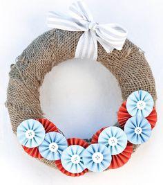 Burlap Medallion Wreath
