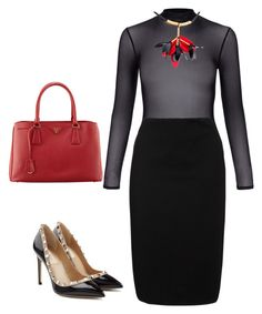 """""""Another Day at the Office"""" by arta13 on Polyvore featuring Prada, New Look, Winser London, Marni and Valentino"""