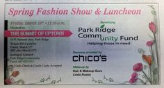 Thanks for mentioning us in the Park Ridge Herald Advocate Newspaper! Don't forget to sign up for our Fashion Show and Luncheon!