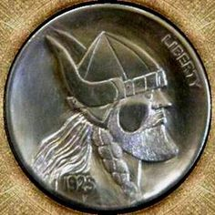 Cliff Kraft Hobo Nickel, Cliff, Soldiers, Warriors, Buffalo, Cactus, Mixed Media, Carving, Money