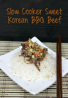 Hate spending all that money on take out? You will love this flavorful Slow Cooker Sweet Korean BBQ Beef Recipe.