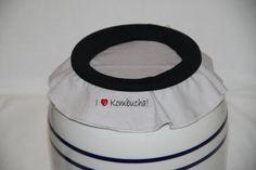 SALE!  I Love Kombucha EZ On Jar Cover fits 2.5 gallon container