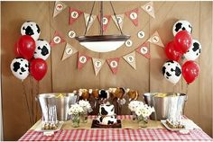 western party...love the cow balloons by krista @tatianarivera42