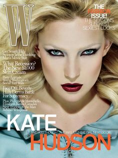Kate Hudson W magazine cover, September 2008.