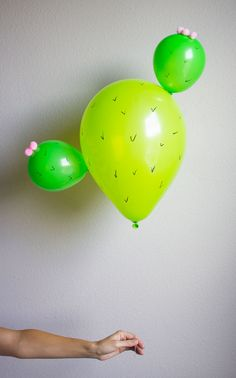 Cactus Balloons! Too cute!