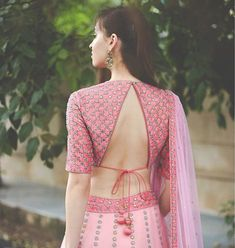 The beauty of a blouse is in its styling. That's when I stumbled upon these beautiful blouse back neck designs. check out the latest blouse designs. Indian Blouse Designs, Blouse Back Neck Designs, Choli Designs, Choli Blouse Design, Fancy Blouse Designs, Bridal Blouse Designs, Latest Blouse Designs, Lehenga Designs Latest, Blouse Designs Lehenga