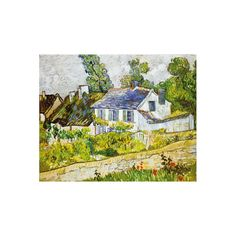 Michele Wilson makes beautiful art wooden jigsaw puzzles for adults. These puzzles are illustrated with famous works of art, and cut by hand like this one depicting Van Gogh 's painting: Maison A Auvers