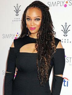 Beautiful Goddess Locs on Tyra Banks!