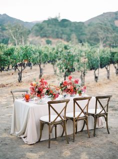 Photography : Sarah Kate | Photography : Joshua Aull Photography | Reception Venue : Sunstone Winery Read More on SMP: http://www.stylemepretty.com/2015/01/27/colorful-vineyard-wedding-inspiration/