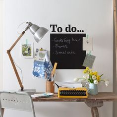 Home office with blackboard | Office designs | housetohome.co.uk