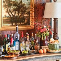 Arriving in Cashiers this evening  and reminiscing on one of my favorite @southernlivingmag spreads from last #october ... So a little #tbt to that article and when my sweet friend let me decorate (take over) her fabulous bar (and whole house) with pumpkins, flowers, garland and seasonal fruit... #sipandsavor #atimetocelebrate #southernstyle #farmerstyle #cashiers #fall #mysouthernliving  @helennorman