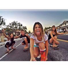 GoPro - Share the Stoke Gopro, Skateboard Girl, Skater Girls, Longboarding, Brand Ambassador, Cool, Sports Women, Bikinis, Swimwear