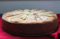 ricotta cake with pears