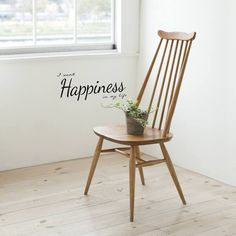 Happiness Wall Quote by mia&co. Transfer to the wall and enjoy. Paintable Wallpaper, Removable Wall, Wall Quotes, Wall Decals, Dining Chairs, Sweet Home, Furniture, Amazing Quotes, Typography