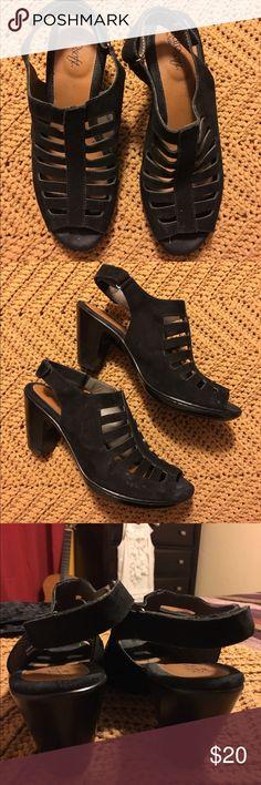Eurosoft Black Sandals Very comfy, lightweight sandals Sofft Shoes Sandals