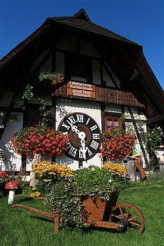 World's biggest cuckoo clock in Schonach, Germany