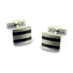 Stainless Steel Cuff Links Jewelry Men's Wedding Day by JPoliseno