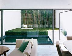 Modern Living Room and Steven Harris Architects in New York, New York