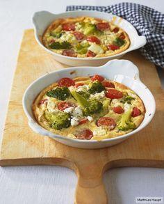 Gemüse in salzigem Pfannkuchenteig mit Ziegenfrischkäse on top -der Clafoutis auf herrlich herzhafte Art.