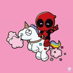 Deadpool on a unicorn.... EPIC