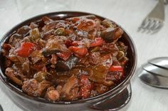 Caponatina Simply Food, Simply Recipes, Beef, Drink, Meat, Beverage, Ox, Drinking, Ground Beef
