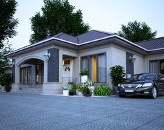 Casa mea Bungalow Style House, Bungalow House Plans, My House Plans, Architectural Design House Plans, Home Design Floor Plans, Flat House Design, Modern House Design, House Paint Exterior, Dream House Exterior