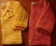 Tricô e Mais Tricô: Casaquinho de bebê em tricô com receita