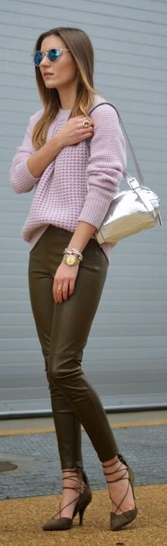 Lilac And Olive Outfit by The Quarter Life closet