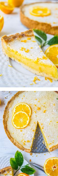 Meyer Lemon Tart from The Food Charlatan // This bright and easy dessert would be perfect for Easter! Plus: make-ahead ftw.