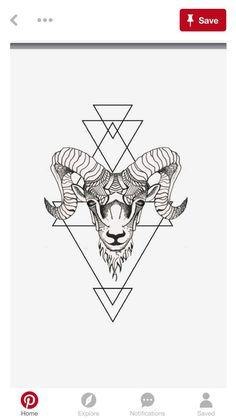 Steinbock tattoo motive