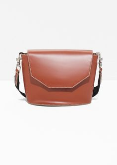 & Other Stories image 1 of White Stitch Bag in Brown Light