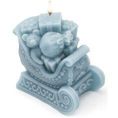 Molde vela navidad Trineo con Regalos Papa Noel
