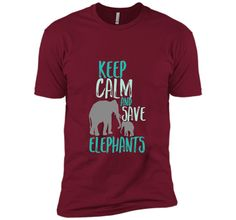 Keep Calm Save Elephants T-shirt Wildlife Animal Activist