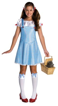 Dorothy Wizard of Oz Country Girl Gingham Dress Up Halloween Deluxe Teen Costume #Rubies #CompleteCostume