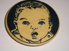 Vintage Gerber Baby Food Round Magnetic Button Gerber Baby Magnet…: