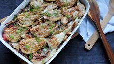 Roasted Fennel with Rice Roasted Fennel, I Want To Eat, Rice, Chicken, Vegetables, Recipes, Food, Veggies, Rezepte