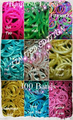 SALE! ◆ LIMITED EDITION RAINBOW LOOM REFILL RUBBER BANDS ◆ 30 COLORS AVAILABLE-  #Authenticrarelimitededitionrainbowloom