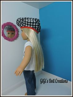 Bonjour Shirt jeans and Beret fits American by GiGisDollCreations