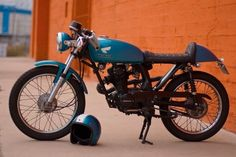 Less is more: This Honda CB125 proves that you don't need a large displaced motorcycle to make a pretty cool cafe racer.