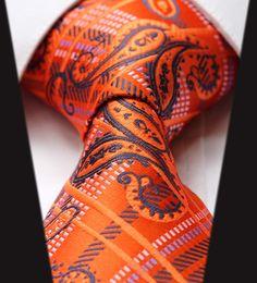 Men Necktie orange blue paisley ties, men ties, wedding neckties, formal neckties, groomsmen ties,silk ties on Etsy, $ 15.00 | Raddest Men's Fashion Looks On The Internet: http://www.raddestlooks.net