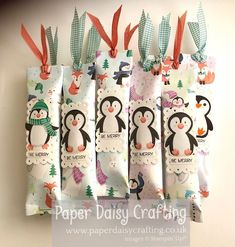 Paper Daisy Crafting: Customer thank you gifts - Twix treat with Penguin Playmates Paper Daisy, Card Maker, Thank You Gifts, Stuff To Do, Penguins, Stampin Up, Give It To Me, Merry, Paper Crafts