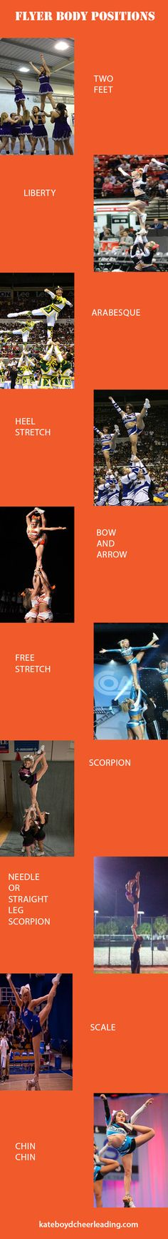 Flyer body positions - Last one makes me think. Cheer Stretches, Cheer Moves, Cheer Routines, Cheer Workouts, Cheer Stunts, Cheer Camp, Cheer Coaches, Cheer Dance, Cheer Flyer